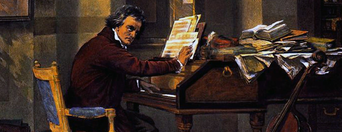 Beethoven at the piano