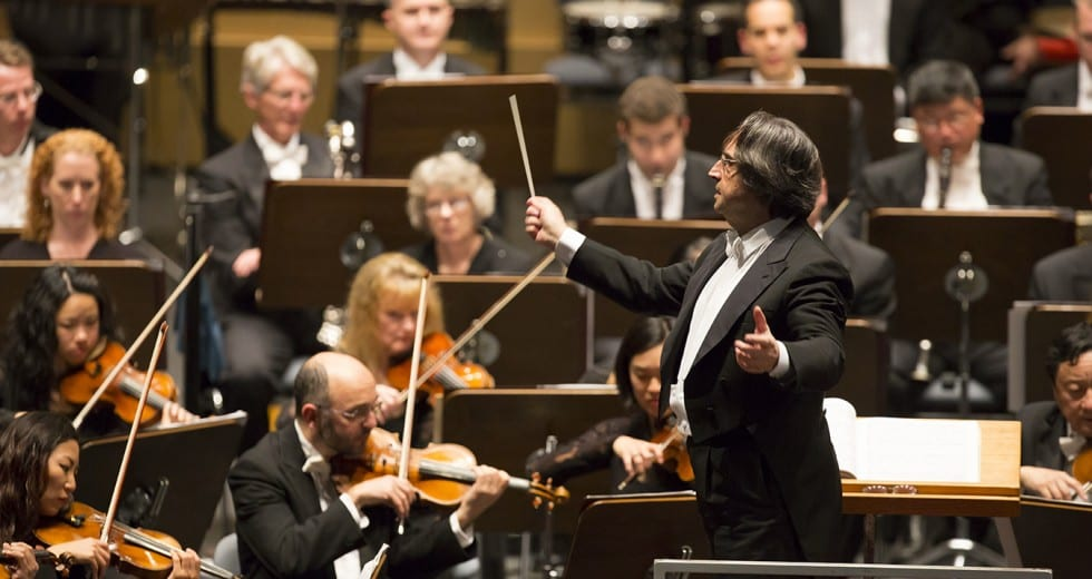 "Maestro Muti conducts a suite from Prokofiev's ""Romeo and Juliet"" on Monday night."