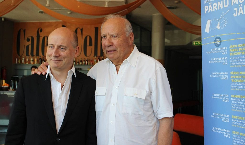 Neeme Järvi is joined by son Paavo at the 2014 Pärnu Music Festival in Estonia.