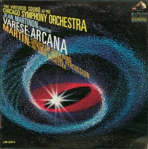 Martin's  Concerto was originally released along with Varèse's Arcana by RCA